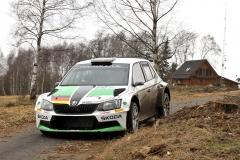 Testování Škody Fabia R5 německého mladíka Fabiana Kreima